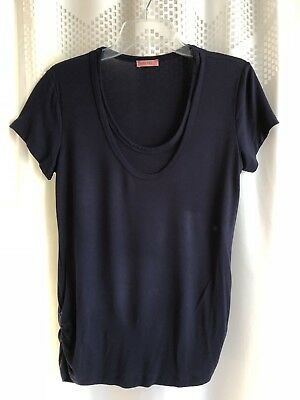 Hello Miz Maternity Nursing T-shirt Navy Blue Sz L