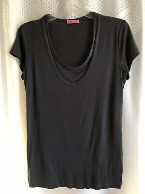 Hello miz Maternity Nursing T-shirt Gray Sz L