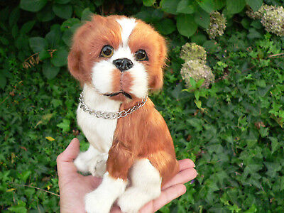 REALISTIC Puppy Dog Furry Animal * Gift Idea * Decor * Doll or Fairy Prop/Pal