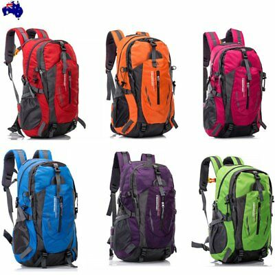 40L Waterproof Sport Backpack Cycling Travel Camping Hiking Rucksack Outdoor AU