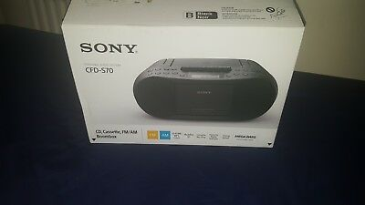 Sony CFD-S70 CD, Cassette Player / Recorder, mp3, radio am/fm, new with box