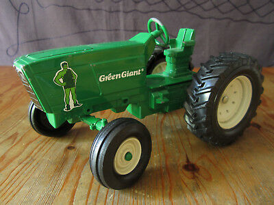 Toy Tractor 4 Piece Set Ertl Green Giant Promotional USA made Harrow Plow Wagon
