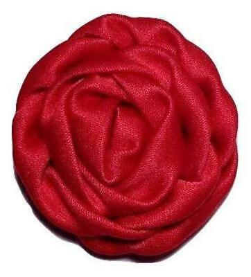 """3 pieces Coral 1.5/"""" satin rolled rosette DIY baby headband /& bows"""