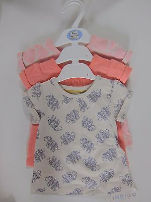 New Marks & Spencer Baby Girls Pink Tops 3-6 Up to 3 Months X 3 RRP £12