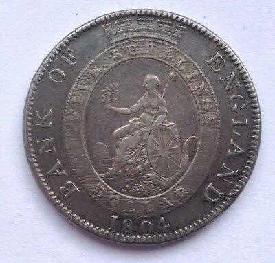 BANK OF ENGLAND - 1804 5 Shillings Dollar - Great Britain Silver Coin