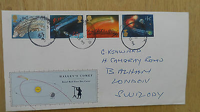 Gb 1986 Halley's Comet Fdc - Used