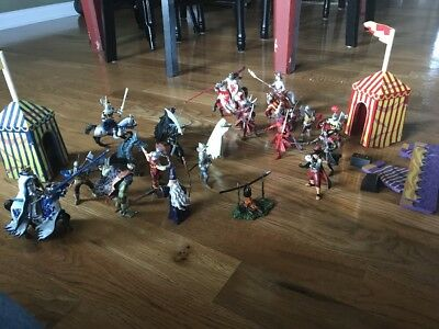 Papo Schleich Medieval Knights,Horses Dragons Fantasy Figures Lot