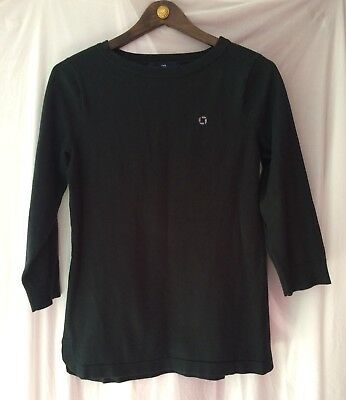 Lands End Chase Bank Uniform Womans Sweater Long Sleeve Black size Small