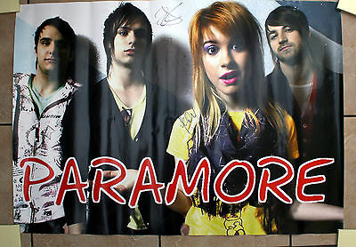 PARAMORE signed poster - Hayley, Taylor, Jeremy & Zac - Original Autographs