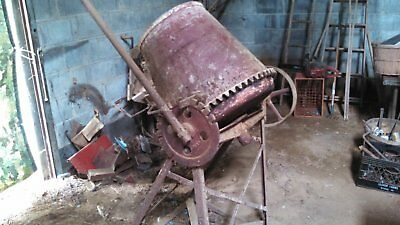 Old Antique Vintage Concrete Cement Mixer