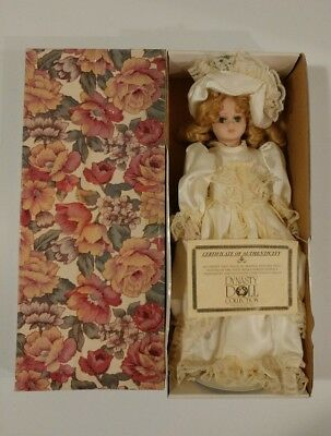 Authentic Madelaine Dynasty Doll In Original Box With Certificate - Porcelain