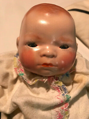 Grace S. Putnam bye lo baby doll, 1910's, 11'', cloth body, good conition