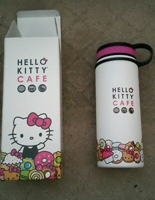 Brand New in Box Hello Kitty Cafe Exclusive Thermal Thermos Bottle 18 oz