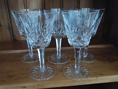 WATERFORD CRYSTAL WHITE WINE GLASSES - set of 5