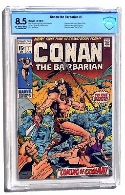 Conan the Barbarian #1 CBCS 8.5 Very Fine+ Off White/White Pages 1970 Marvel