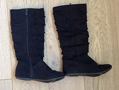 Girl's Black Knee High Boots Children's Place Size 12