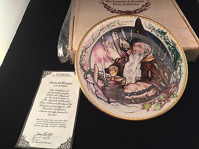 The Legend Of Camelot Plate Collection MERLIN THE MAGICIAN 1982 ARTIST PALLADINI