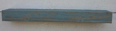 "36"" Floating Fireplace Mantle Shelf Reclaimed Wood Rustic Gray Blue Distressed"