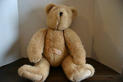 """Large 1992 Vermont Teddy Bear Company 21"""" Get Well  Bear Jointed Arms & Legs"""