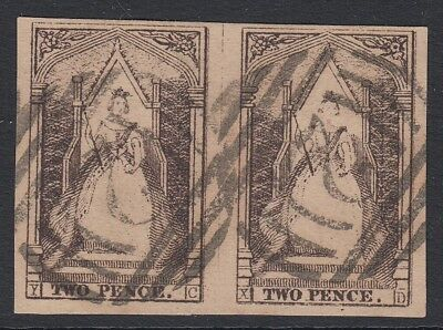 Victoria   Queen on the Throne  used pair letters Y-C and X-D  Positions 24 & 25