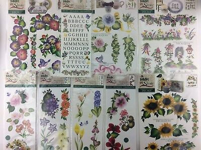 One Stroke Folk Art Decals Sunflowers Alphabet Seasons Lot 9