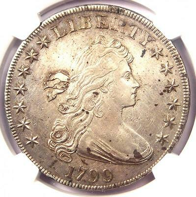1799 Draped Bust Silver Dollar $1 - NGC AU Details - Rare Coin - Near MS/UNC!