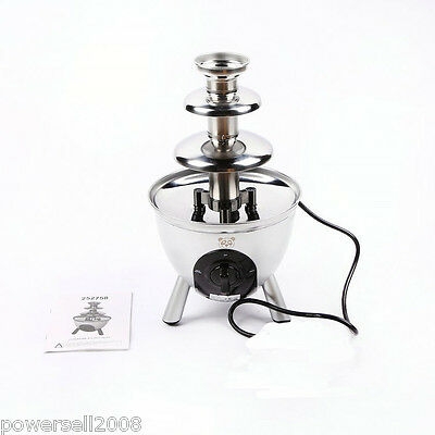 New Stainless Steel Fountain Chocolate Chocolate Fountain Three Layer Home Use