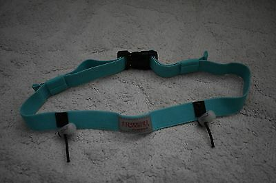 Running Room Race Number Belt- arctic blue- size o/s- VEUC