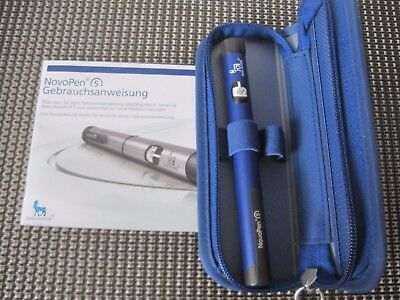 novo blue  insulin pen and case brand new....