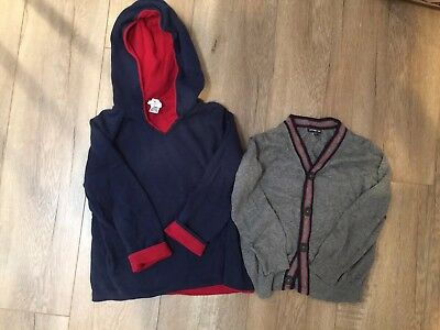 Hanna Anderson Reversible Navy and Red Sweater and Baby Gap Boy 3T Cardigan