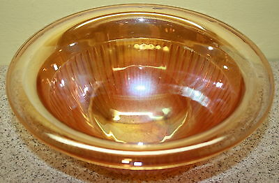 Vintage Imperial Carnival Glass Mixing Bowl In Marigold