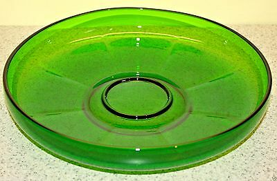 Beautiful Emerald Green Depression Glass Centerpiece Bowl