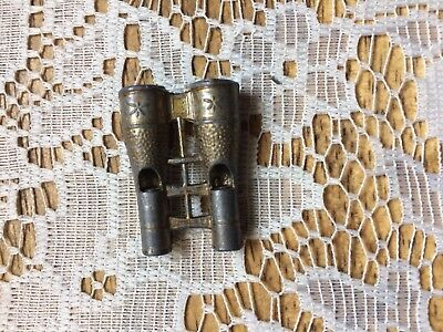 Rare Vintage/Antique? Binocular Shaped Metal Double Whistle Made In Japan
