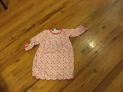 Girls Gymboree nightgown size 2T pink long sleeve with bows