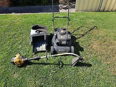 Lawnmower and line trimmer