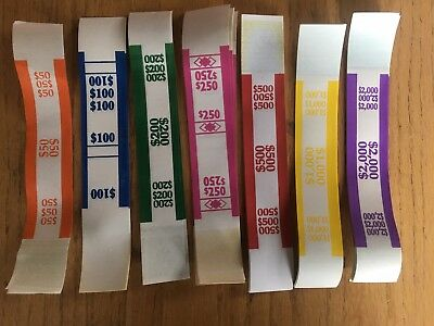 100 - Combination Currency Bands - You Choose What Ships - Money Straps Strap