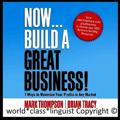 🗽 NEW Now Build a Great Business 5 Audio CD  Great Leader Business Plan Sale 🗽