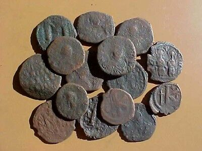15 Large Byzantine Bronze Coins