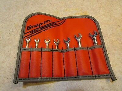 Lot#31 Snap-On Tools Oxim707Sbk 6 Point Midget Wrench Set 4-9 Mm In Bag Nice!!