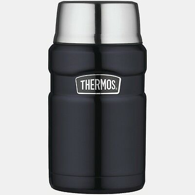 Thermos Stainless Steel King 24-Ounce Food Beverage Jar, Midnight Blue Hot/Cold