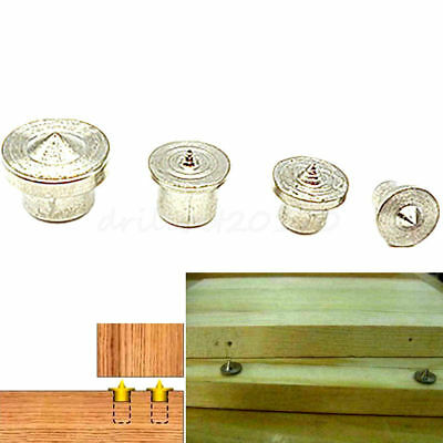 4pcs Dowel Joint Alignment Wood Tenon Centre Center Point Pin 6mm 8mm 10mm 12mm