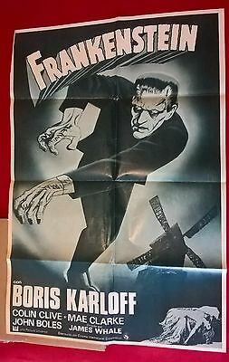 Frankenstein  R-1970: -Spanish  1 Sheet. 27 X 41 Inches .