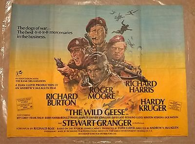 The Wild Geese   1978- Original Very Rare Uk Quad Poster - 30 X 40