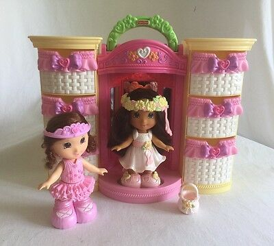 Fisher-Price Snap n' Style 2 Dolls & Wardrobe Carry Case Ballet Fairy LotB