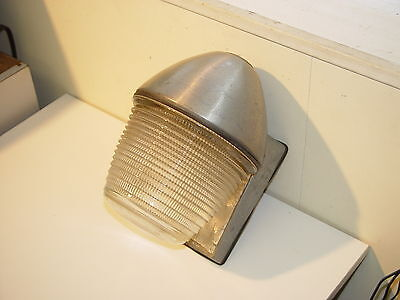 Stonco 60's vintage MCM aluminum Pool / Patio Wall Sconce