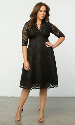 92d03d3f977 NWT AUTHENTIC KIYONNA RETRO GLAM Lace Dress in Black Ivory