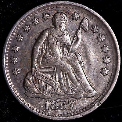 XF 1857 Seated Liberty Half Dime R9THA