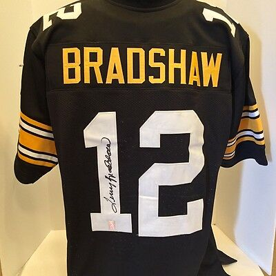 Terry Bradshaw Signed Autographed Pittsburgh Steelers Black Jersey Bradshaw HOLO