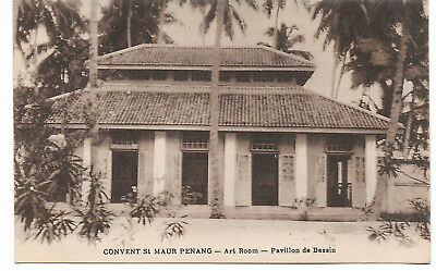 Penang, George Town, early photograph of Convent Light Street, Rare c.1910
