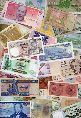 Set of 50 Different Banknotes 50 Different Countries Japan Poland Yugoslavia #L